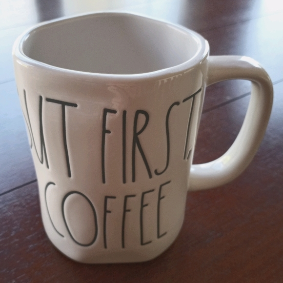 Rae Dunn BUT FIRST, COFFEE mug.